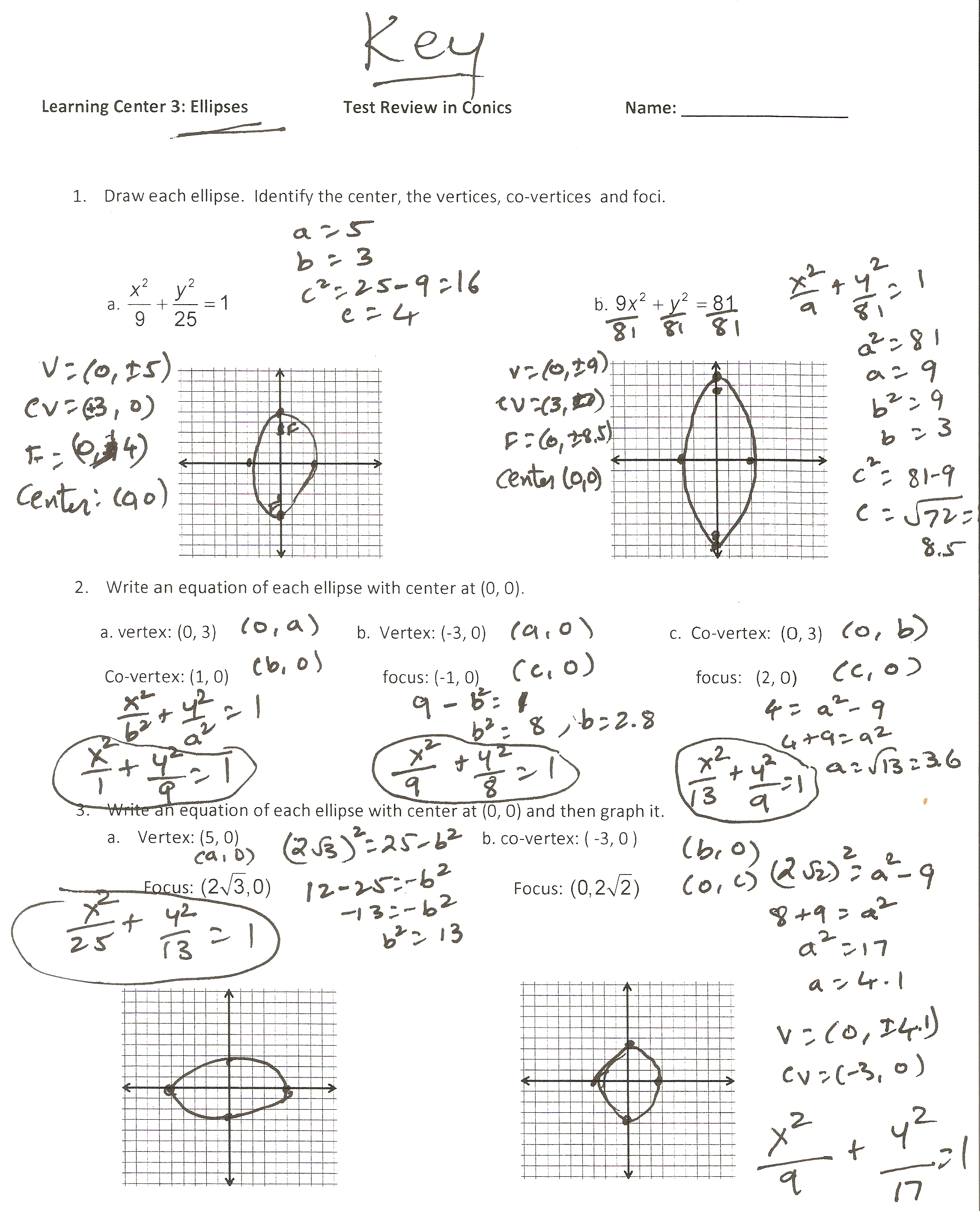 Dr Yadavalli April 2011 – Precalculus Review Worksheets